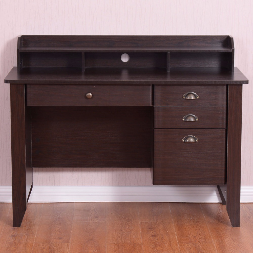Computer Desk PC Laptop Writing Table Workstation Student Study Furniture Modern Home Office Table With Drawers HW54474