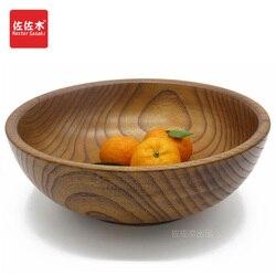 Sprzedaż bezpośrednia fabryk w stylu zachodnim/wschodnim ryż z litego drewna/makaron/Sushi/jedzenie/cukier/zupa/owoce/warzywa drewniana miska