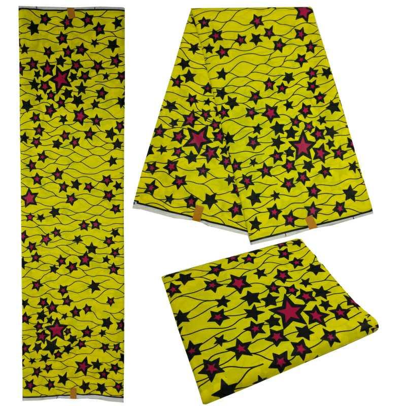 6 Yards Ankara Fabric Cloth Tissu Africain High Quality Batik Wax 2019 Dutch Wax African Printed Fabric For Party Dress in Fabric from Home Garden