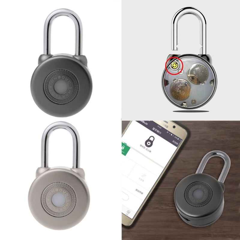Wireless Control Smart Bluetooth Padlock Master Keys Types Lock with APP Control Dec20 Y122