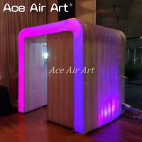 Ingenious design inflatable brace photo booth,newly foto cabinas,club booth with 2 doors and bright leds for rental