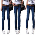 New Autumn Elastic Slim Denim Pencil Jeans Long Women Jeans 6 Sizes Pencil Pants Trousers Skinny Ripped Jeans Woman G0500