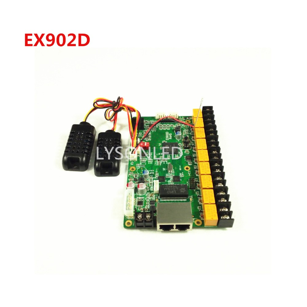 LYSONLED Linsn EX902D Multi function LED Card EX902 Multifunction Card Support Temperature Humidity Brightness Sensor