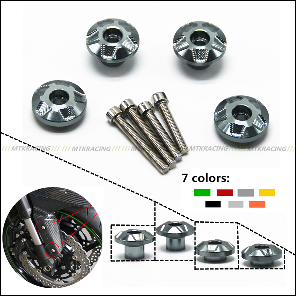Free delivery Aluminum Front fender trim screws For KAWASAKI Z650 z650 2017 17 yuvraj singh negi biopolymers for targeted drug delivery systems