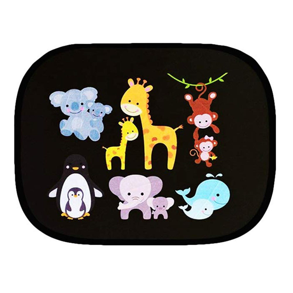 Image 2 - 2pcs/Set Car Side Window Sunshade Cartoon Patterned Auto Sun Shades Protector Foldable Car Cover for Baby Child Kids Car Styling-in Side Window Sunshades from Automobiles & Motorcycles