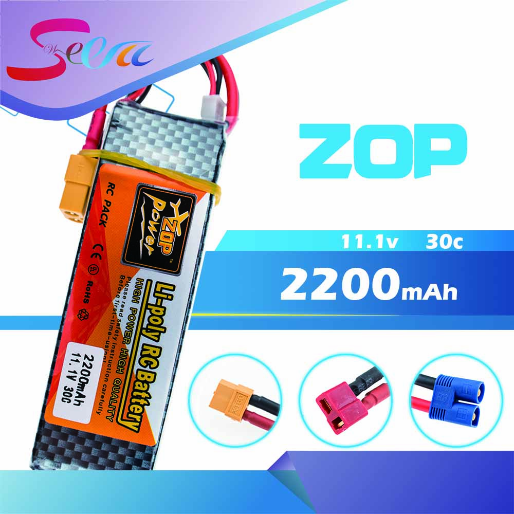 ZOP Lipo Battery 11.1V 2200Mah 3S 30C Max 35c XT60 / T EC3 Plug For RC Helicopter Qudcopter Drone Truck Car Boat Bateria Lipo все цены
