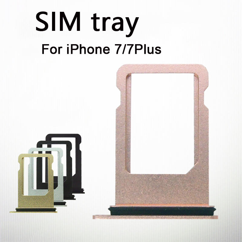 For Nano SIM Card Tray Holder For Apple IPhone 7 7 Plus Sim Tray Holder Repair Parts With Sim Tray Remover Eject Ejector Pin