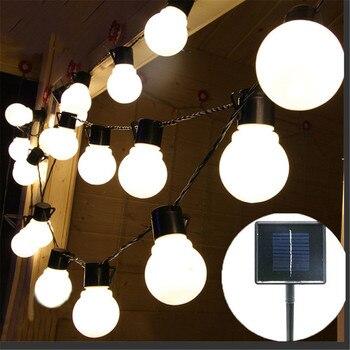 2.5M Garden Light Solar Powered 10pcs 5CM Big Size Ball Fairy String Outdoor Garland IP65 Waterproof
