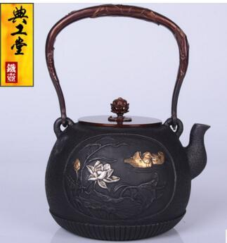 2018 new style 1.2L Iron pot and Mei Mei cast iron pot imitation Japanese old iron pot South pig iron kettle teapot kettle