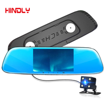 New 5″ Car DVR Camera Dual Lens Rearview Mirror Video Recorder FHD 1080P Automobile DVR Mirror Dash cam night vision