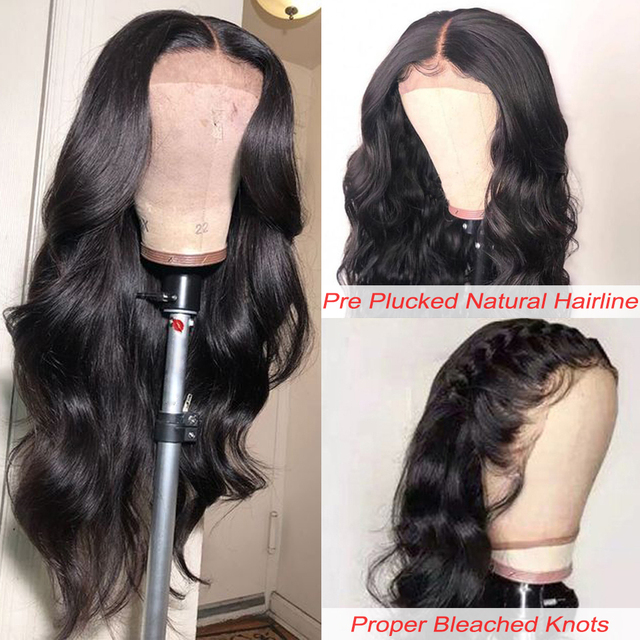 Brazilian Remy Body Wave Lace Front Human Hair Wigs 8-26 Inches Pre Plucked Hairline With Baby Hair