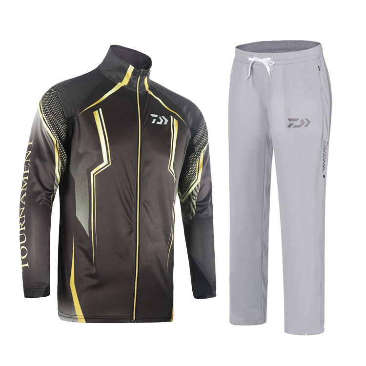 DAIWA 2019 Fishing Clothing sets Men Breathable UPF 50 UV Protection Outdoor Sportswear Suit Summer Fishing