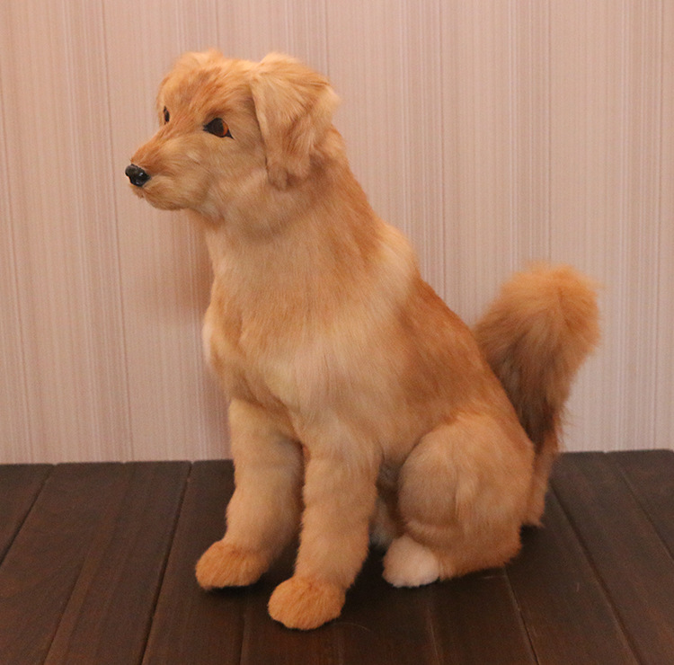 new big simulation Golden Retriever dog toy polyethylene&furs sitting dog model gift about 46x43cm 2920 new simulation red fox toy polyethylene