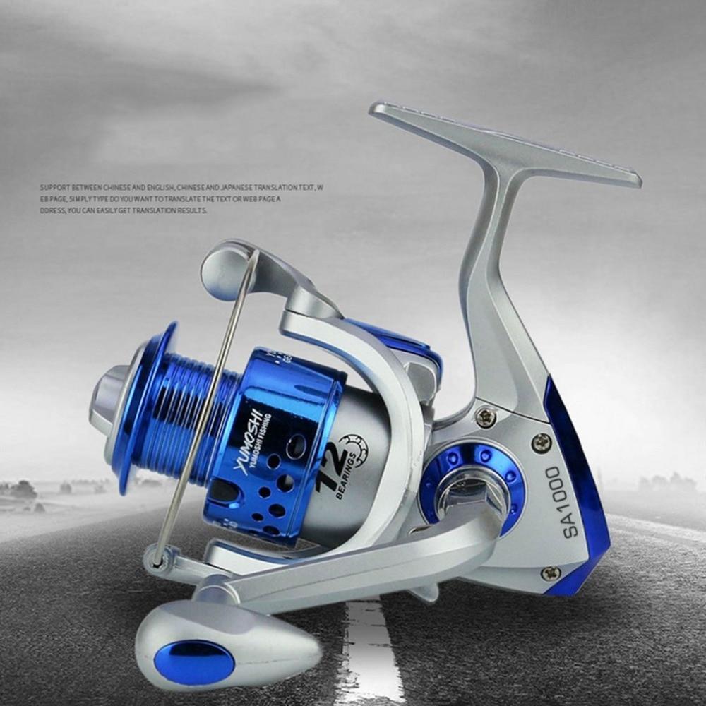 Yomoshi SA1000-7000 Serie Spinning Carbon Drag Ultraleicht Süßwasser Angeln Reel 6BB Spin Kunststoff mit Metall Rocker Arm