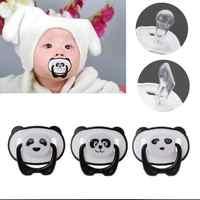 Mamelon de Panda tétine factice bébé de qualité alimentaire PP Silicone Non-toxique sucette en bas âge mamelon orthodontique avec anneau sucette de dentition