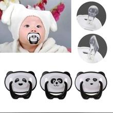 Panda Nipple Dummy Pacifier Baby Food Grade PP Silicone Non-toxic Toddler Orthodontic With Ring Teether
