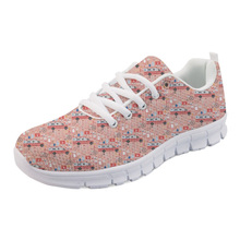 NOISYDESIGNS Sneakers Woman Casual flat Fashion Girls Shoes Nurse Medical Bus Pattern Female Mesh Lightweight for Women