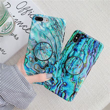Blue Wave marble case for iphone7 8plus xs max case folding stand soft cover for iphone 7 6 6s 8 plus x xsmax xr grip holder i10 цена 2017