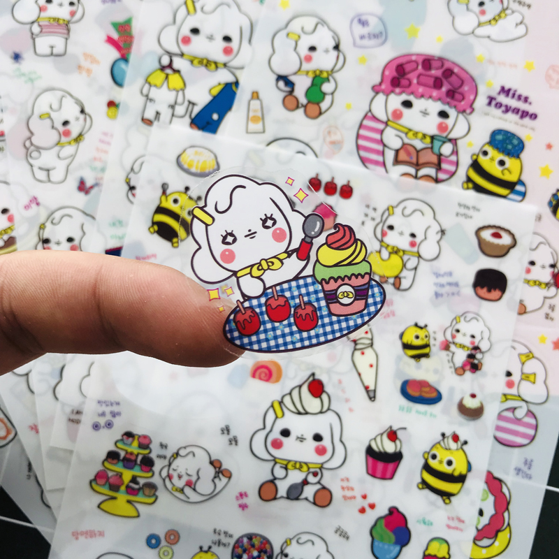 6 Sheets/pack Lovely Cute Sheep Stickers Notebook Album DIY Craft Stick Label School Student Stationery Kids Gift