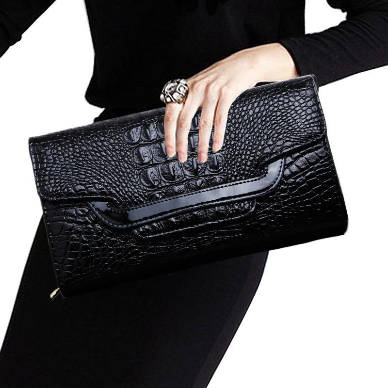 Aliexpress.com : Buy Women's handbags crocodile leather clutch bag ...