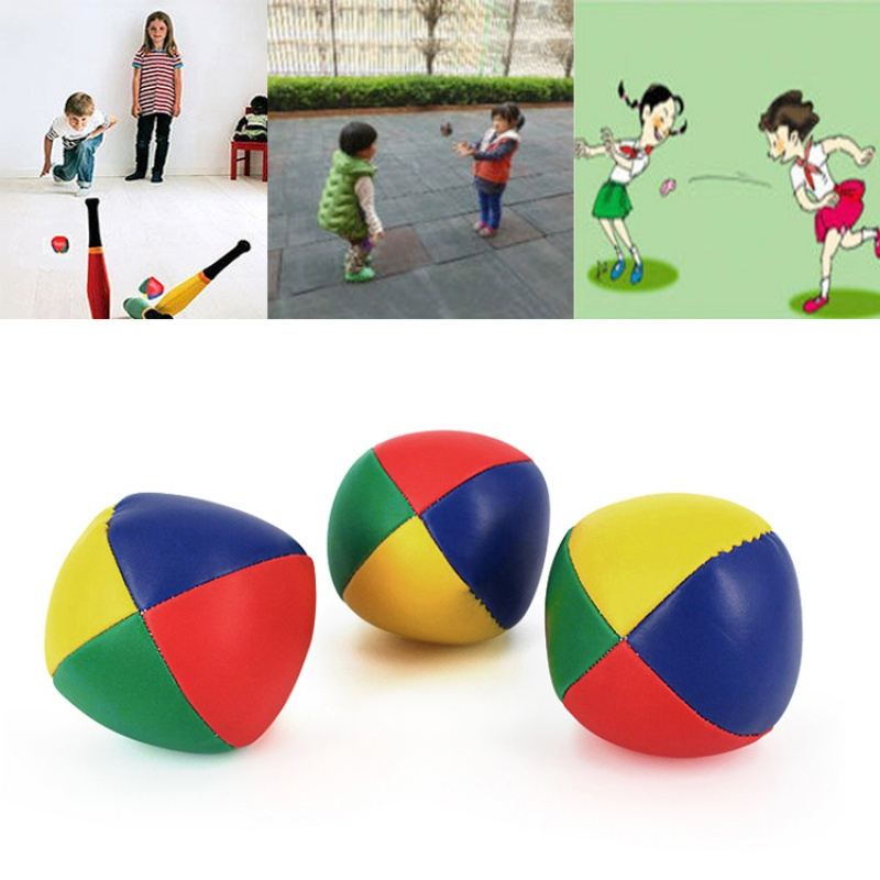 3pcs/pack Interactive Rubber Balls Hot Selling Fun And Exercise Child Magic Circus Juggling Balls Classic Bean Bag