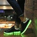 2017 Mujeres ZAPATOS Chaussure de Luz LED para arriba los zapatos de Las Mujeres LED Lumineuse Unisex informal Zapato de Luz Con Luces Para Adultos zapatos Femme