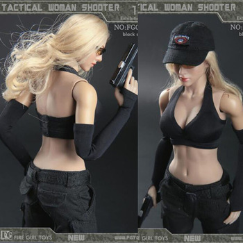 2 colors 1/6 Female Tactical Female Woman Lady Girl Shooter Dark Gunner Clothing Set Clothes Suits F 12'' PH HT TTL Body Figure