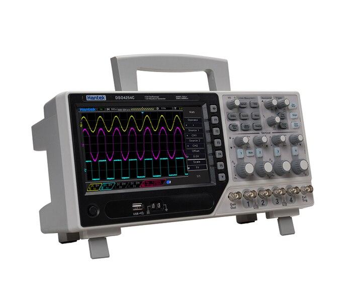 Hantek Ufficiale DSO4254C Oscilloscopio Digitale 4 Canali 250 Mhz LCD PC Portatile USB Oscilloscopi + EXT + DVM + Auto funzione gamma
