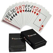 Пластиковые скрабы для покера Texas Holdem, противоскользящие широкие карточки, черный домкрат, ПВХ, маленький шрифт для покера