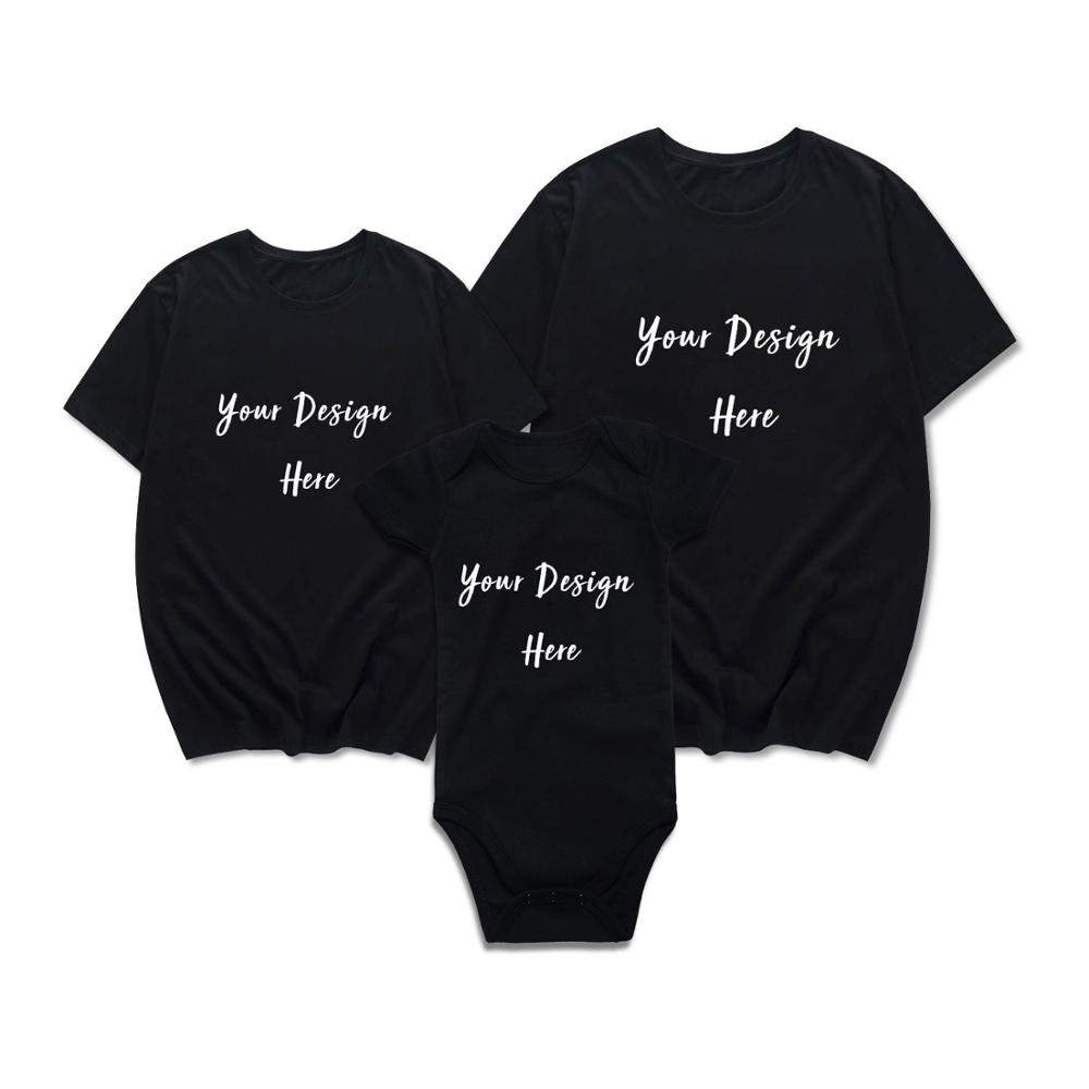 1cfe7fb0b050 Family Matching Outfits Customized Your Own Design Father Mother And Son  Daughter Summer T shirt for Adult and Baby Bodysuit-in Matching Family  Outfits from ...