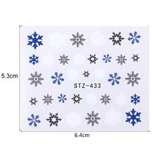 Image 4 - 30PCS/Set Snowflake Nail Art Sticker Winter Manicure Water Transfer Decal Snowman Deer White Blue Nail Art Foil Decoration TR862