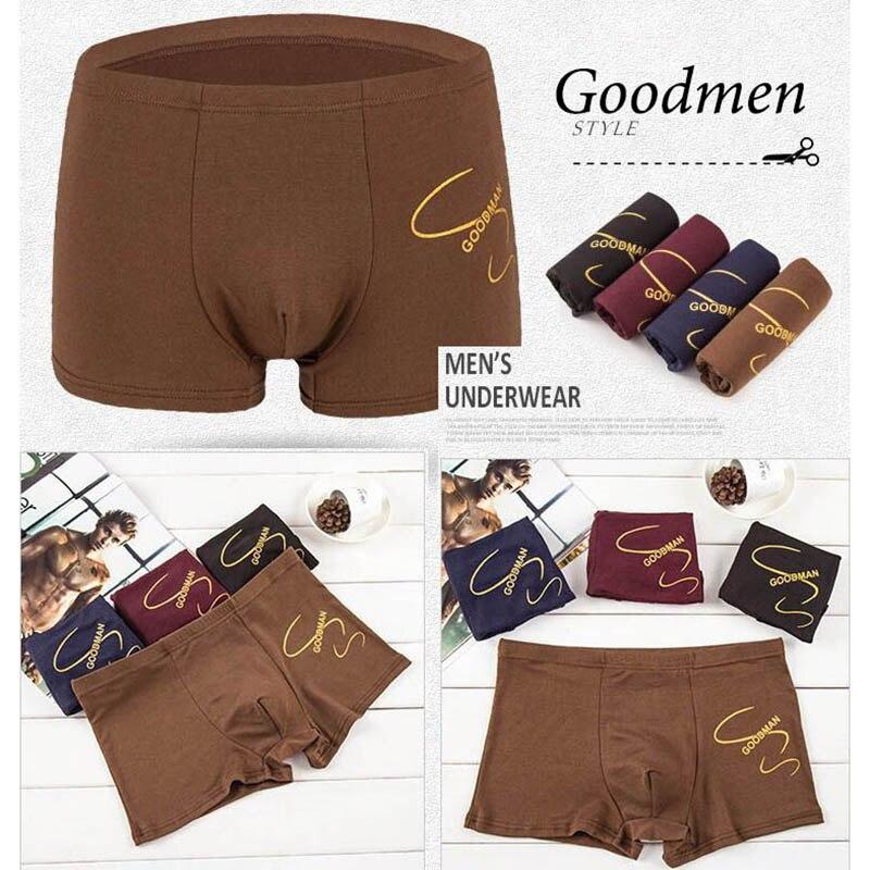 Wtempo Brand Boxer Hot Sale Sexy Men's Underwear Shorts New Fashion Boxer Men Modal Cotton Print Underpants Wholesale 4 Pcs/lot #4