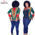 Vintage Retro Women Basic Coats Tops Long Sleeve Slim Autumn African Print Clothing Dashiki Jacket Cazadoras Mujer