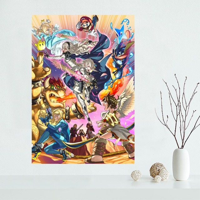 Custom Super Smash Bros Canvas Poster Home Decoration poster cloth fabric Canvas Painting wall poster print 1