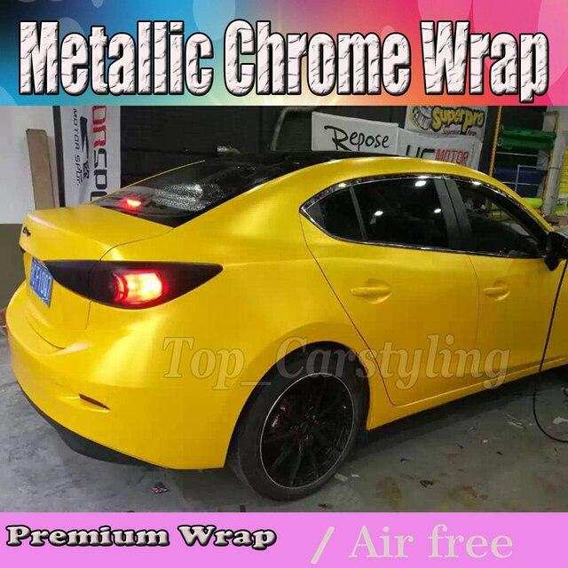 de luxe hornet jaune mat lectrique vinyle de voiture wrap film pour v hicule couvrant avec la. Black Bedroom Furniture Sets. Home Design Ideas