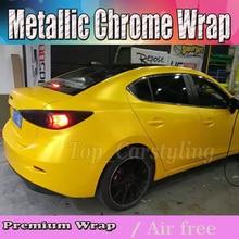 Luxo Hornet Amarelo fosco Película Do Envoltório Do Carro de Vinil Para O Veículo Elétrico Cobrindo Com Air Release tamanho 1.52×20 m/4.98x66ft/roll