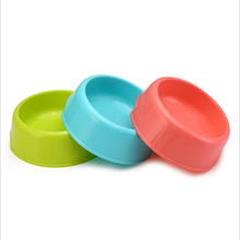 1PC Pet Supplies Plastic Dog Bowls 3 Colors Cat Bowl Feeding Water Food Feeder Puppy Dish Tableware Color Random