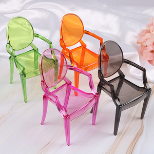 1PCS 1:6 Scale Doll House Armchair Furniture Chair For Children Dolls House Accessories Dollhouse Miniature