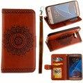 Ретро Дело Кожаный Бумажник Для Samsung Galaxy S7 s7 Edge S5 S6 край Note5 7 Мода Слот Для Карты Стенд Сумка Рамка Флип Чехол Для Телефона