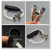 4 Pin Male XLR PCOCC + Silver Plated Cable Light weight Cord for Audeze LCD 3 LCD3 LCD 2 LN004723