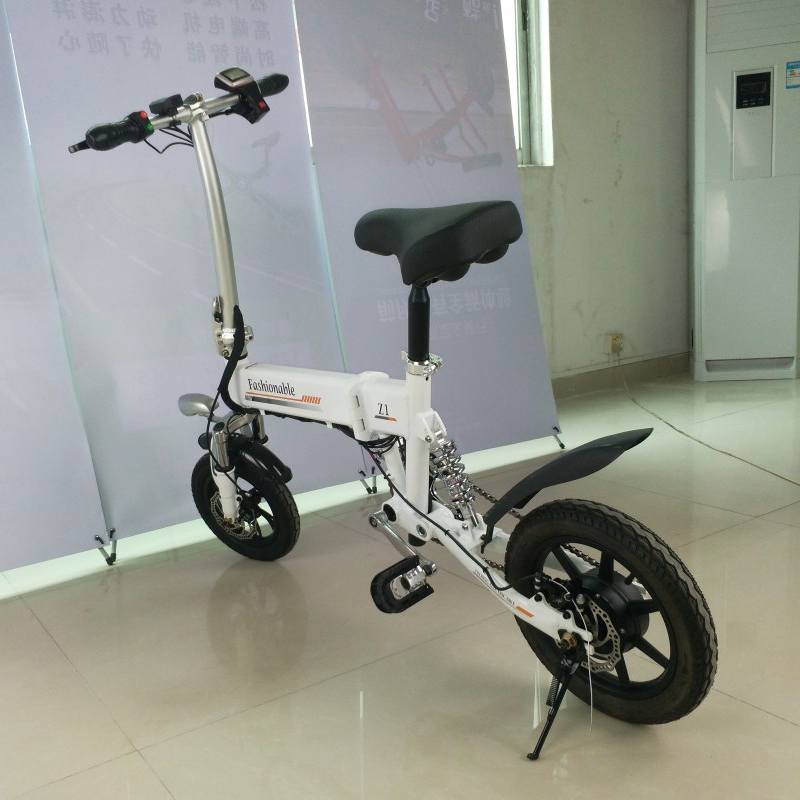 Cheap 14inch folding electric bike mini lithium battery bicycle Portable adult  powered motorcycles Two-disc brakes electric bicycle 21