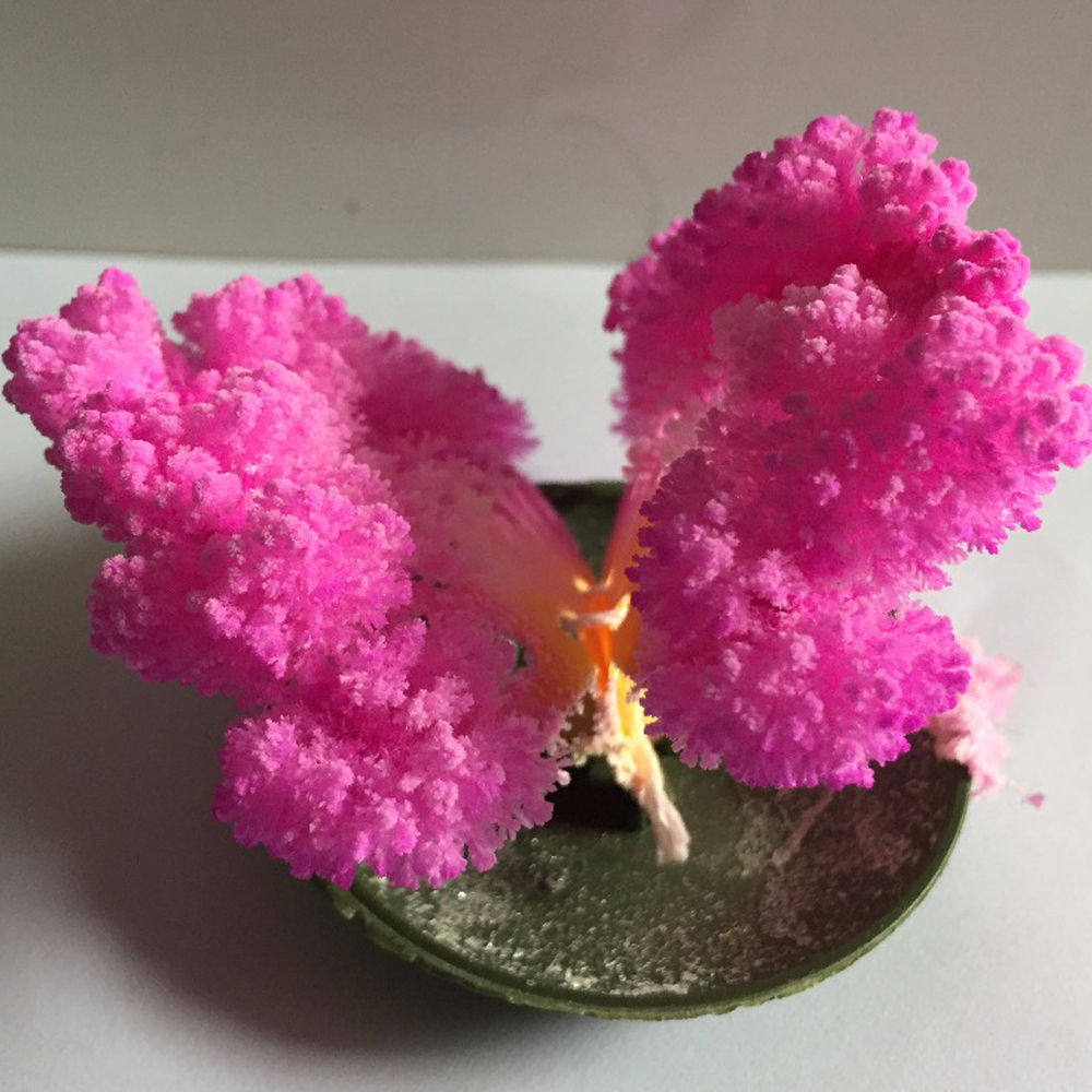 65mm rose papier magique croissant papillon arbre artificiel magique noël arbres éducatifs enfants Science jouets nouveautés 100 pièces