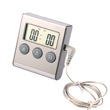 High Quality LCD Digital Display Cooking Food Meat For Smoker Oven Thermometer Kitchen BBQ Probe Food Thermometer Timer