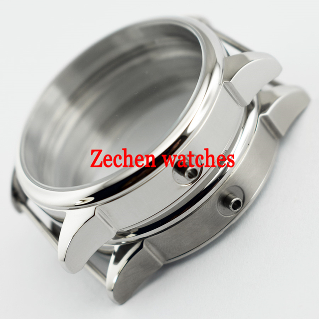 Goutent 42mm Stainless Steel Polished/brushed Watches Case fit eta 6497/6498 Seagull ST36 mechanical Movement mens watch
