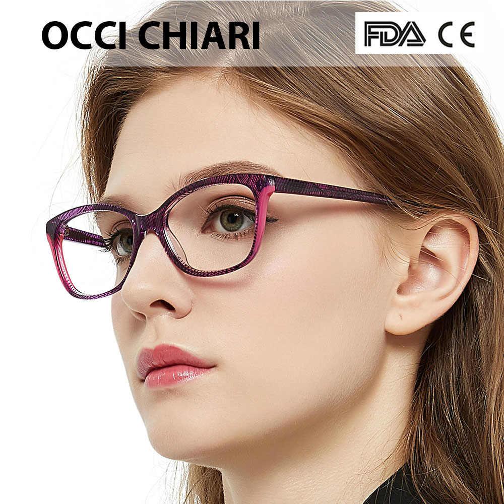 b18faad1209 OCCI CHIARI 2018 Fashion Rectangle Myopia Glasses Women Clear Lens Trendy  Optical Eyeglasses Eyewear Frames Spectacles