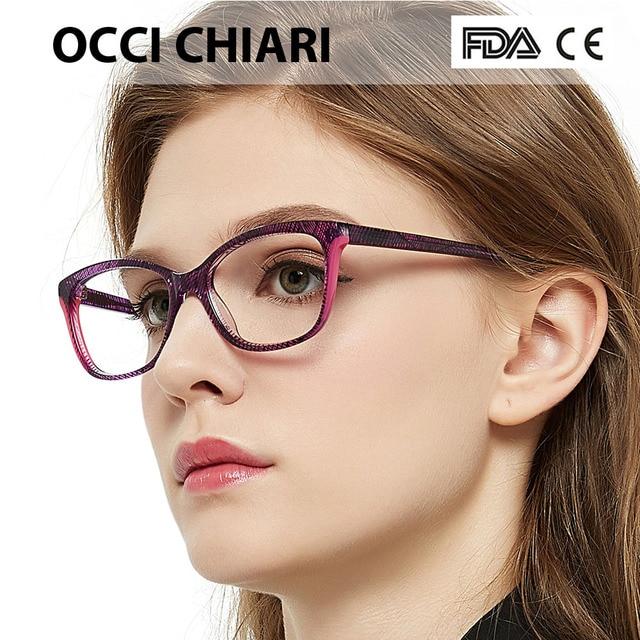 OCCI CHIARI 2018 Moda Retângulo Armações de Óculos de Miopia Mulheres Óculos  Limpar Lens Moda Óculos f62ae03032