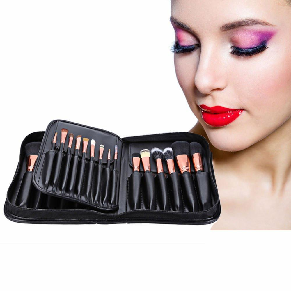 New Arrival Hot Professional 29pcs Animal Hair Cosmetic Makeup Brushes Tool Set With Black Leather Cosmetic Case makeup brushes tool set 29pcs professional makeup tools accessories goat hair cosmetic with black leather cosmetic case