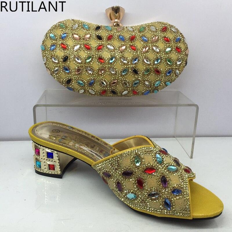 púrpura Italianas Nueva Conjunto Señoras oro rojo Rhinestone Oro Decorado Mujeres Boda Bolsa Negro Con De azul Llegada Conjuntos Zapatos Nigeriano Color plata Y XqrXRgzwn