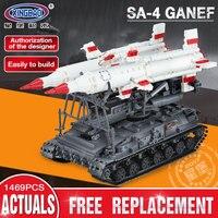 Xingbao 06007 1469Pcs Military Series The SA 4 Ganef Set Building Blocks Bricks Children Educational Toys