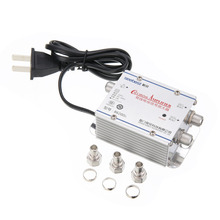 Горячая 1 шт. 2Way CA tv VCR ТВ антенна усилитель сигнала низкий уровень шума тока дизайн CA ТВ усилитель сплиттер 220 в 45-860 МГц